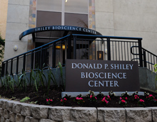outdoor signage, Donald P. Shiley BioScience Center