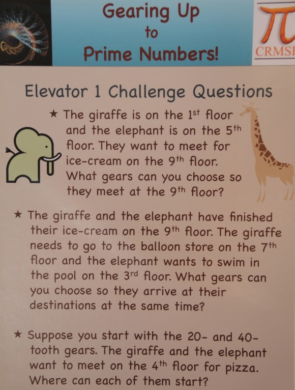 Questions for the gear elevators